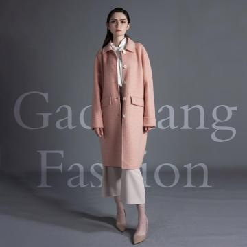 Cappotto in cashmere basic rosa