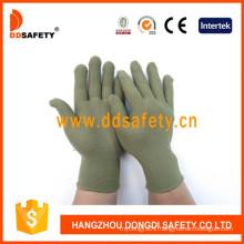 13 Gauge Bamboo Green Nylon Polyester Gloves Dch124