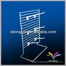 Counter top design metal picture display racks