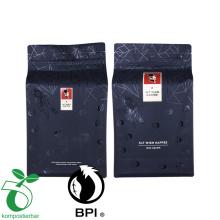 Malotes biodegradáveis da parte inferior lisa do zíper do bolso do produto comestível alto da barreira para o feijão de café
