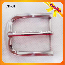 PB01 Custom Popular metal pin hebilla para la correa de 1,4 pulgadas de metal hebilla níquel color