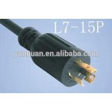 NEMA L7 - 15P Twist Lock moulé cordon d'alimentation