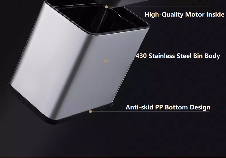 430 Stainless Steel Small Sensor Dustbin