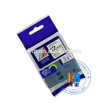Cassette de ruban d'étiquette pour imprimante plastifiée compatible Tz 231 Ruban d'étiquette 12mm brother tze