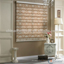 Home hotel office décoration jacquard style zebra blinds