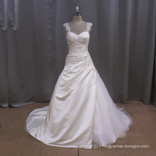 Vintage Lace Satin Slip Wedding Dress