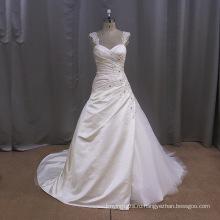 Старинные Кружева Атласная Скольжения Свадебное Платье