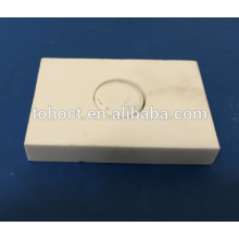 High temperature Furnace refractory ceramic welding plate tile brick with hole