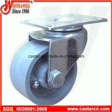 3 Zoll Stahl Schwenkrollen mit grauem Gusseisen Rad