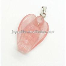 Hot vender natural melancia pingente de anjo de quartzo