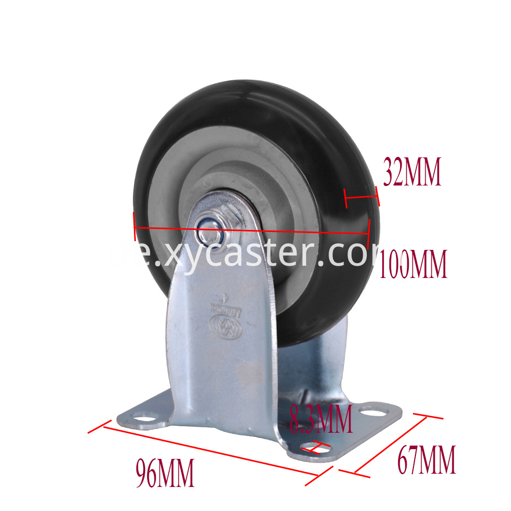 4 Inch Pvc Fixed Caster