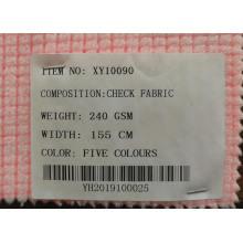 Tissu tricoté à carreaux multicolores en gros