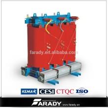 Transformateur de puissance électrique à sec de type 33kv 630kva en fonte résineuse Fabricant de SCB10