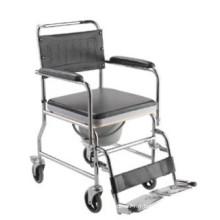Chaise roulante pliante en acier sur roues W003