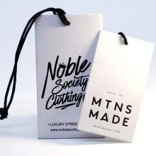 Custom Printed Brand Logo Paper Hangtag Label