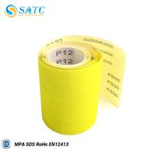SATC pano rolo de papel de areia para madeira e metal polimento e moagem, rolo de papel de areia de pano, rolo de lixa