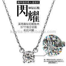 Cœurs et flèches jolies en zircon diamant 925 collier en argent