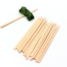Custom Logo Flat BBQ Sticks Bamboo Disposable Kebab Turkish Skewers