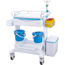 Cheap price  Mobile Hospital Medical Crash Cart abs Plastic Emergency Trolley