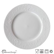 Assiette à dîner à porcelaine blanc bon marché