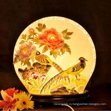 Charactizing тонкой весной новый дизайн керамической абажуром Декоративная лампа