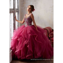 Elegant Crystal Girl Clothes Garment Prom Party Evening Quinceanera Dress (89131)