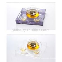 Chinese Supplier Wholesale Acrylic Traditional Tea Tray/Plexiglass Tea Set Stand