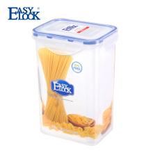 Recipiente de armazenamento plástico do mantimento da despensa do alimento pequeno com tampas