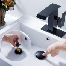 Bouchon de lavabo en laiton noir