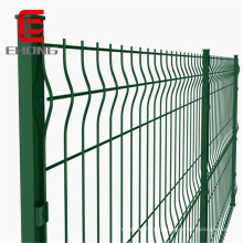 Factory sales galvanized decorative barbed green welded iron wire mesh fence