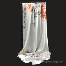 New Arrival Floral pattern 90*90 cm square women shawls Printed polyester scarf