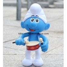 Personalizado mini figura de acción de dibujos animados ICTI lindo azul niños juguete