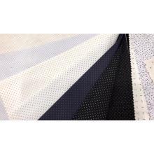 Tecido de camisa estampada de poli algodão Dobby para homens