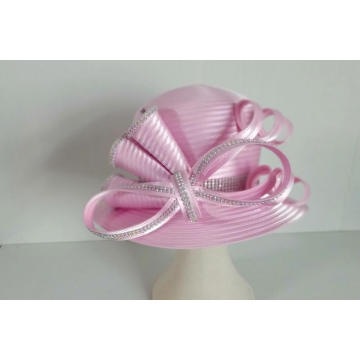 Satin Ribbon Church Millinery Dress Sombreros formales