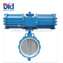 Für Durchflussregelung DN200 6-Zoll-Größe, doppelter Versatz Was ist die belastbare Absperrklappe pneumatisch