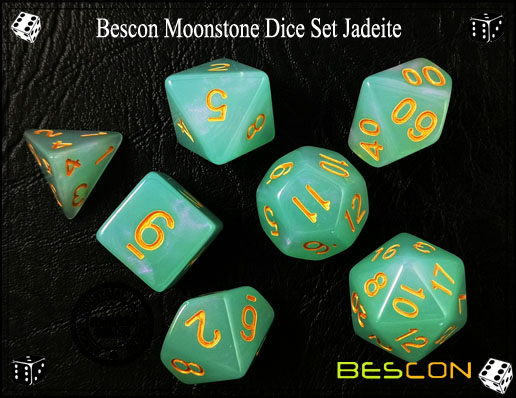 Jadeite Dice Set-4