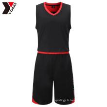 YNBJ002 pas cher de la jeunesse en gros vide nouveau meilleur dernier basket-ball uniformes logo design personnalisé Chine couleur bleu
