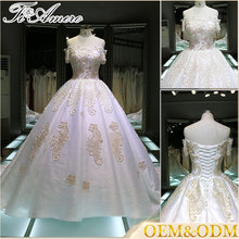 2017 New Product Beaded Off Shoulder Dress A Line Ball Gown