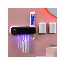 suporte multifuncional para escovas de dentes suporte elétrico para escovas de dentes de parede distribuidor de pasta de dentes suporte para escovas de dentes de parede