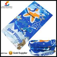 NINGBO LINGSHANG polyester Custom tubular outdoor neck warmer seamless multifunctional bandanas
