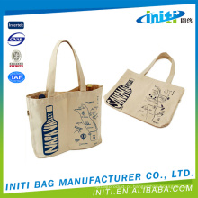 Custom logo preço de fábrica várias cores impresso lona saco de almoço