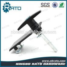 Rectangle Iron Core Serrure de porte noire avec deux clés