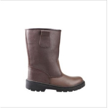 Industrial Leather Safety Boots with Steel Toe Cap (sn1235)