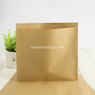 Bolsa de papel compostable de 3 lados con sello Kraft