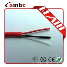 High quality 1000ft Red FPL FPLR cctv 2 core Bare Copper fire guard cable