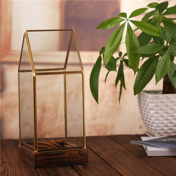 Cheap Wholesale hot sale clear geometric glass terrarium