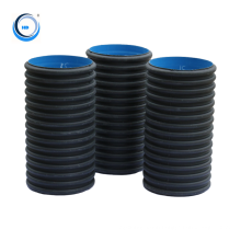 Hdpe raw material double wall corrugated drainage pipe in china