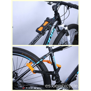 Bike lock folding for mountain bike