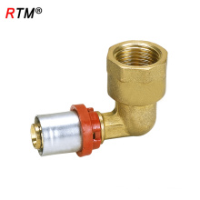 A 6 8 female elbow press fitting elbow fitting brass press fitting