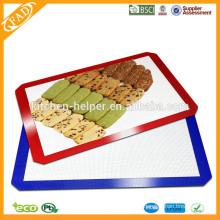 China fabricante FDA LFGB Aprovado Food Grade Resistente ao calor Non-stick Premium Quality Silicone Baking Mat